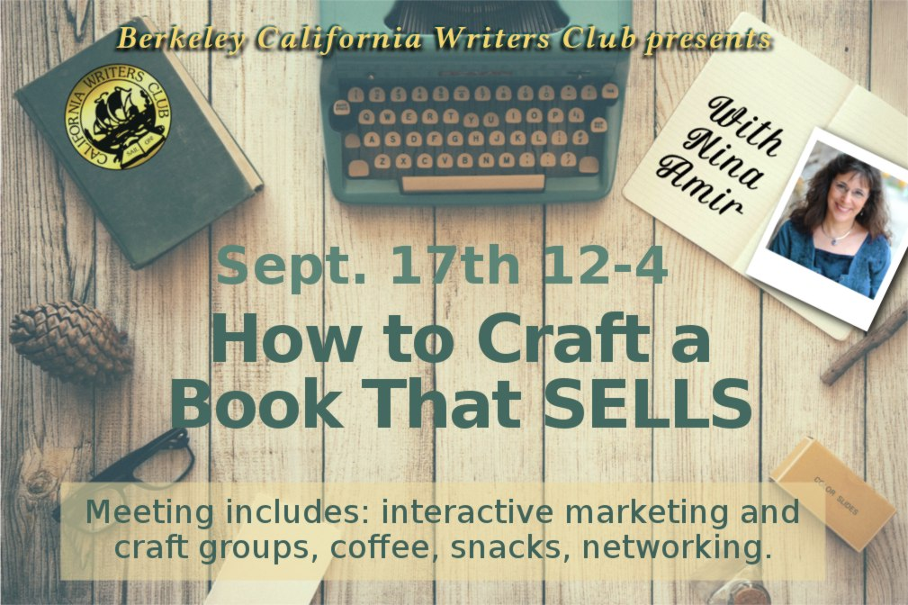 Sept 17th: How to Craft a Book that Sells, with Nina Amir