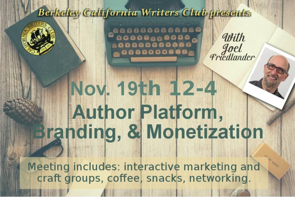 november-Joel Friedlander-Author-Platform-Branding-Monetization