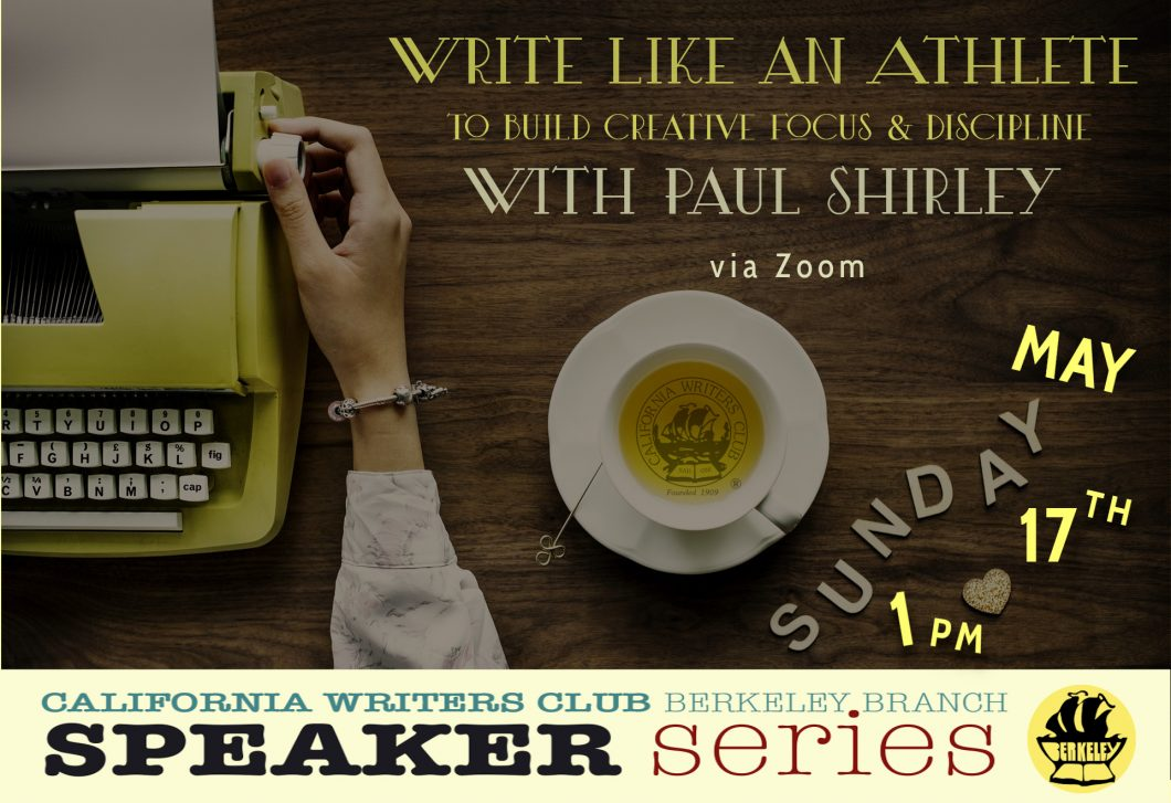 "May 17th SPEAKER—Paul Shirley—""Writing Like an Athlete to Build Creative Focus"""
