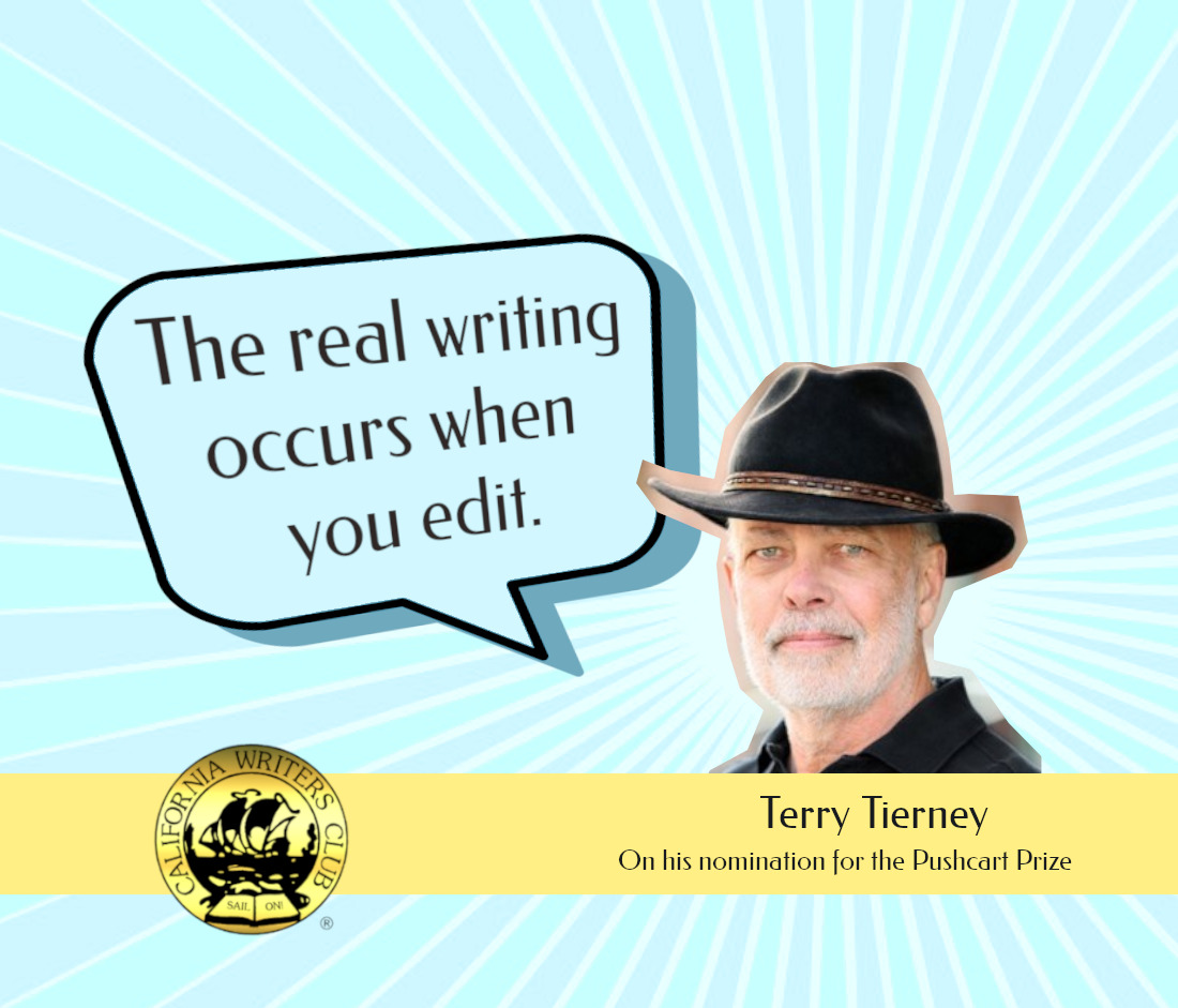 """real writing occurs when you edit"" Terry Tierney"