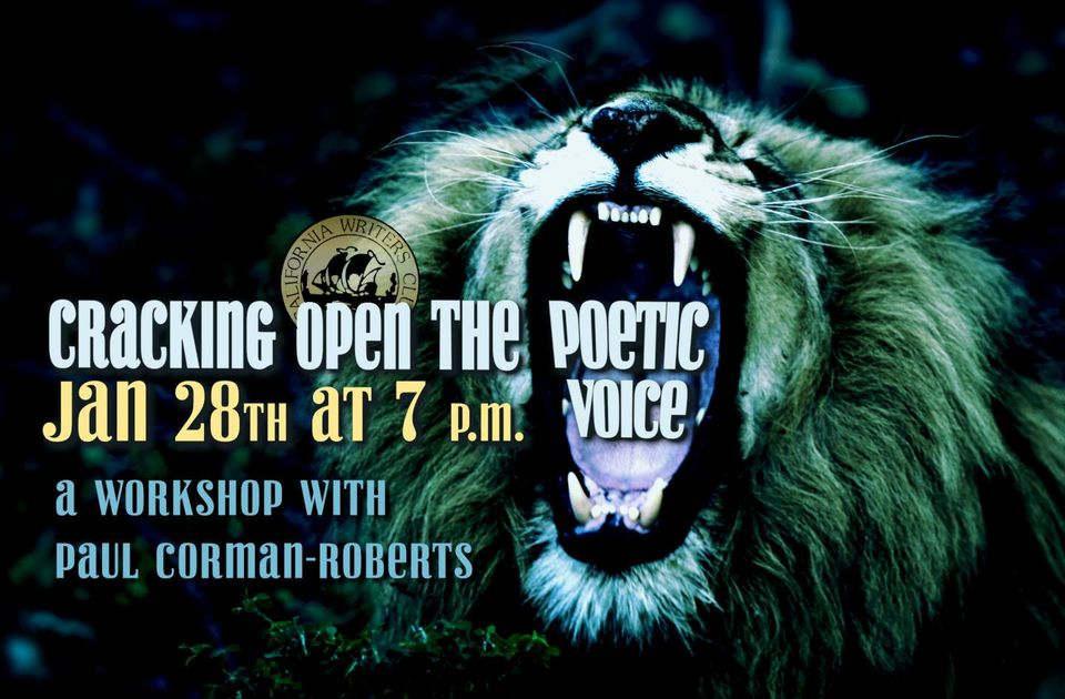 Cracking Open The Poetic Voice: a Workshop with Paul Corman-Roberts